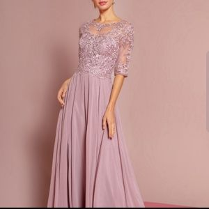 GLS CHOFFON JEWELLED EVENING GOWN